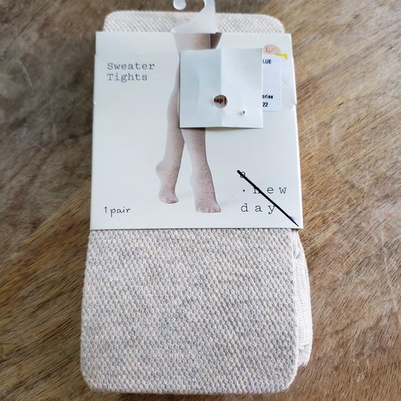 Heathered Oatmeal sweater tights Large Xl